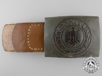 A German Army (Heer) Enlisted Man's Belt Buckle by WERNER LINKER DUISBERG