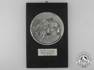 A 1940 H.K.P. Paderborn Armoured Car Award Plaque
