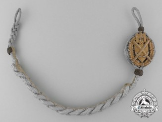 A German Army Shooting Lanyard; Grade Nine