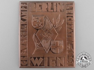 Germany. A HJ Plaque GELB.VERGL.KAMPF BERLIN VIENNA 1941