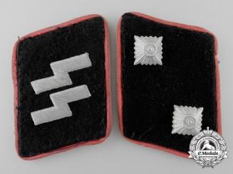 A Set of Panzer SS-Oberscharführer's Collar Tabs