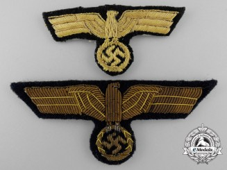 Two Kriegsmarine Officer's Eagles