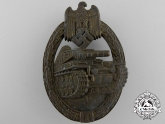 A Bronze Grade Panzer Badge by Frank & Reif