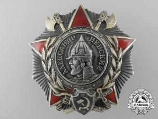 A Soviet Russian Order of Alexander Nevsky by Monetny Dvor; Numbered 41019