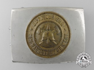 Germany, Weimar Republic. A Fire Defence Service Enlisted Man's Belt Buckle