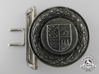 A Bavaria Fire Defence Service Officer's Belt Buckle by Overhoff & Cie