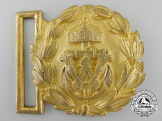 A First War Imperial German Navy (Kaiserliche Marine) Officer's Belt Buckle