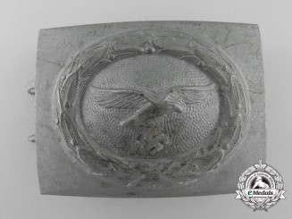 A 1942 Pattern Luftwaffe EM Belt Buckle by Franke & Co.; Published Example
