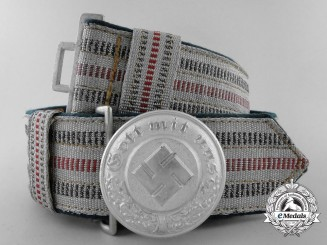 A 1st Pattern German Police Officer's Brocade Dress Belt with Buckle