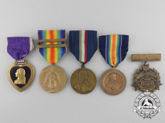 An American Mexican Border & First World War Purple Heart Group to James S. Wilson