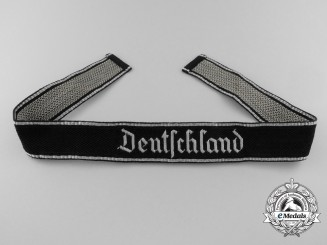 A Mint Waffen-SS Deutschland Officer's Cufftitle; RZM Control Tagged