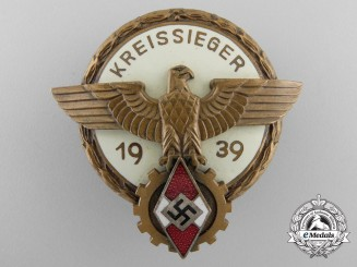 A Victors Badge in the National Trade Competition 2nd model, Kreissiegers Badge 1939