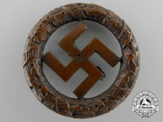A NSDAP Gau- München Badge 1933, Award for Old Fighters 1933