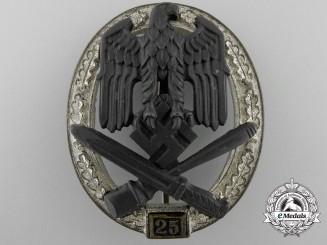 A Special Grade Assault Badge; Grade II (25) by Josef Feix Söhne, Gablonz