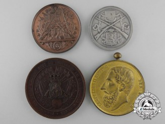 Four Belgian Shooting Medals & Awards