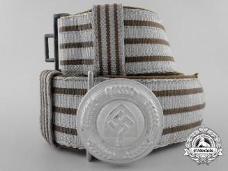 A Reich Labour Service (Reichsarbeitsdienst = RAD) Officer's Brocade Dress Belt with Buckle