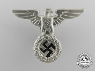 An NSDAP Small Political Cap Eagle, Early Pattern (1934) by F.W. Assmann & Söhne