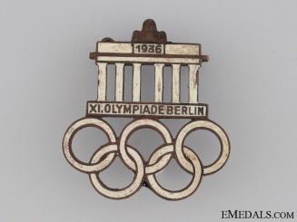 XI Summer Olympic Games Pin 1936