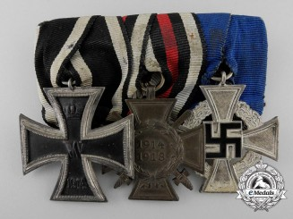 A First War German Imperial & Faithful Service Medal Bar