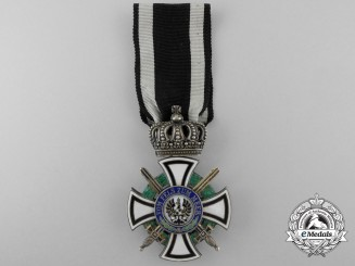 A Prussian House Order of Hohenzollern with Swords; Knight's Cross by Wagner