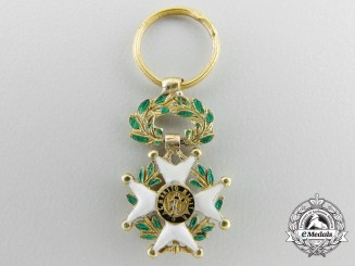 A Miniature Royal Military Order of St.Ferdinand in Gold