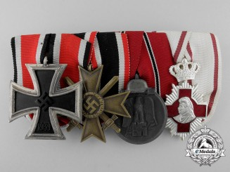 German WW2 Medal Bar of Four
