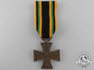 A Saxe-Coburg-Gotha Eckernförde 1849 Campaign Cross; Bronze Grade