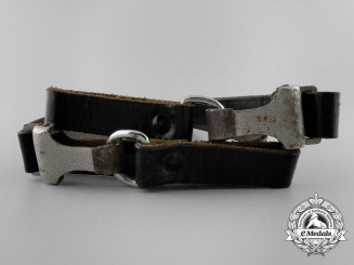 A German Black Shoulder Strap by Franke & Co., Lüdenscheid