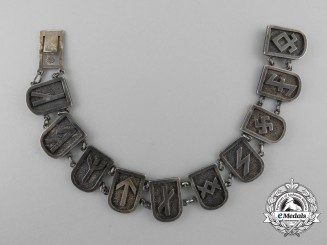 An Unusual German Runes Silver Bracelet