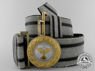 A 1939 Diplomatic and Government Officials Group I Brocade Dress Belt with Buckle; Published Example