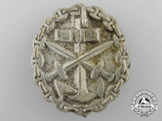 A German Imperial Naval Wound Badge; Silver Grade