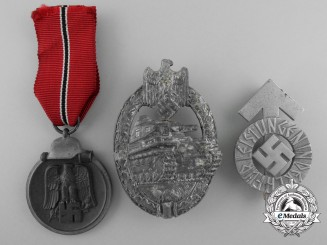 Three Second War German Awards & Badges