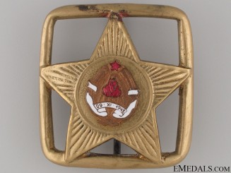 Yugoslavian Leaders Belt Buckle