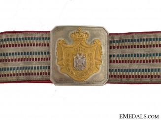 Yugoslavian Naval Officer's Belt & Buckle 1930