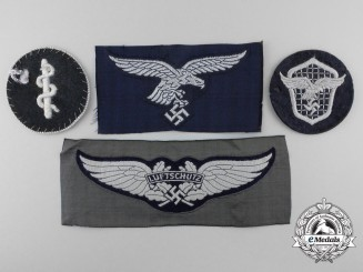 Germany. Four Second War Luftwaffe Cloth Insignia