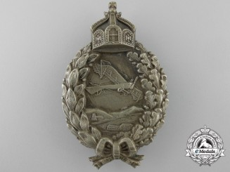 A First War Prussian Pilot's Badge;  Unmarked Juncker