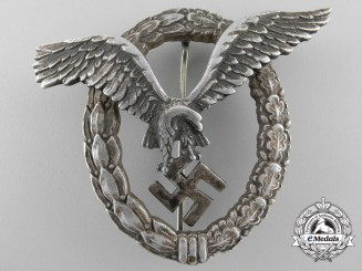 An Early Luftwaffe Pilot's Badge in Aluminum by Assmann