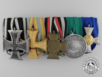 Germany, Imperial. A First War Medal Bar with Turkish Life Saving Award
