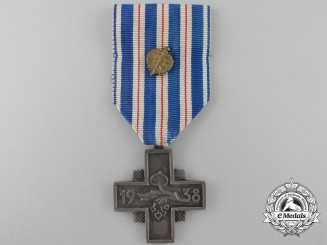 An 1938 Czech Loyal Service Cross of the National Armed Guard; Silver Version