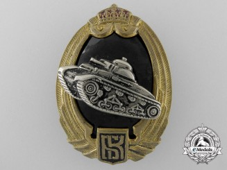 A Second War Period Bulgarian Tank Badge