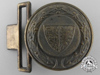 A Schleswig-Holstein Fire Defence Service Officer's Belt Buckle