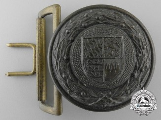 A Bavaria Fire Defence Service Officer's Belt Buckle by Overhoff & Cie; Published