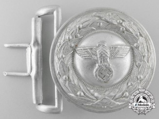 A German Justice Official's Type II Belt Buckle by Overhoff & Cie, Ludenscheid