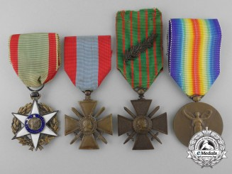 Three French Medals, Awards, & Decorations