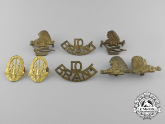 A Lot of Eight Canadian 2nd-10th Dragoons Insignia