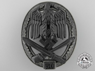 A Special Grade General Assault Badge 50; Grade III by Josef Feix Söhne