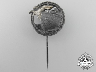 A Miniature Kriegsmarine Blockade Runners Badge