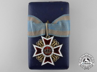 An Order of the Romanian Crown; Commanders Cross by J. Resch
