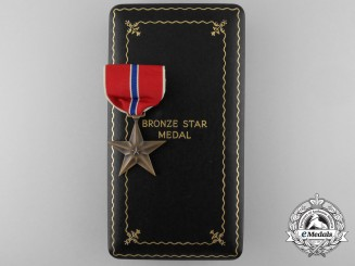 An American Bronze Star to J. Silber-Nagler with Case