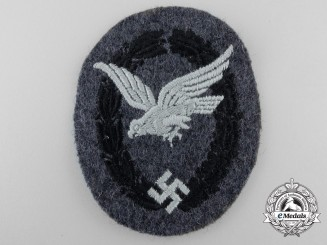 A Luftwaffe Unqualified Air Gunners Badge; Cloth Version